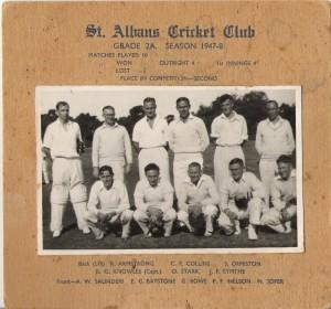 Jim's cricket team - St Alban's Christchurch, NZ